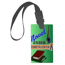 Novel Under Construction journal Luggage Tag
