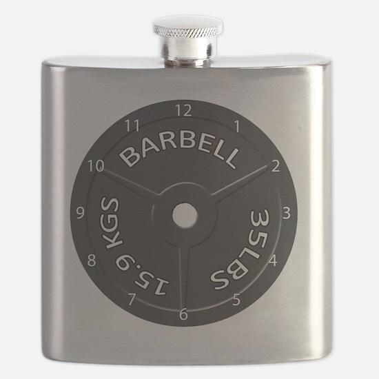 35LB barbell clock 1 Flask