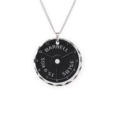 35LB barbell clock 1 Necklace