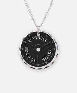 35LB barbell clock 1 Necklace