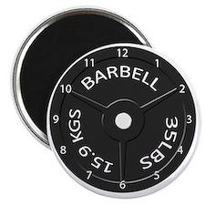 35LB barbell clock 1 Magnet