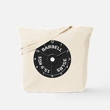 35LB barbell clock 1 Tote Bag