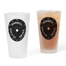 35LB barbell clock 1 Drinking Glass