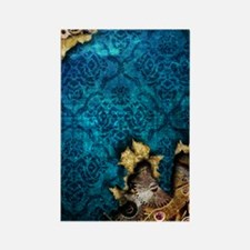 iPhone 3G Blue Grunge Steampunk C Rectangle Magnet
