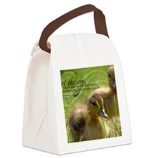 Fly and Follow Quote on Jigsaw Pu Canvas Lunch Bag