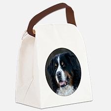 bernese_round Canvas Lunch Bag