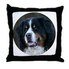 bernese_round Throw Pillow
