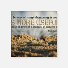 """Shortcoming Quote on Jigsaw Square Sticker 3"""" x 3"""""""