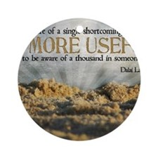 Shortcoming Quote on Jigsaw Puzzle Round Ornament