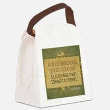 Wise Man Quote on Jigsaw Puzzle Canvas Lunch Bag
