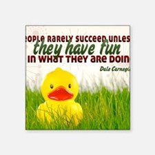 "Succeed Quote on Jigsaw Puz Square Sticker 3"" x 3"""