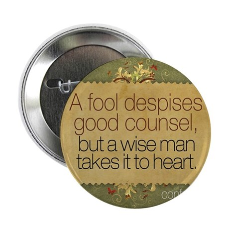 "Wise Man Quote on Jigsaw Puzzle 2.25"" Button"