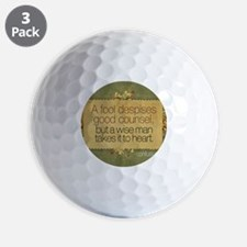Wise Man Quote on Jigsaw Puzzle Golf Ball