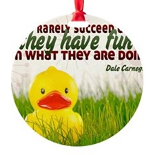 Succeed Quote on Jigsaw Puzzle Ornament