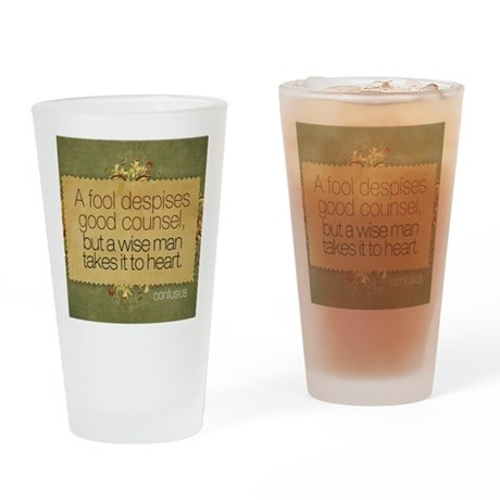 Wise Man Quote on Jigsaw Puzzle Drinking Glass