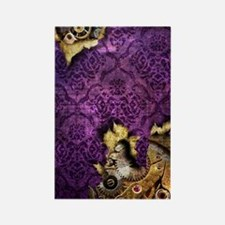 iPod Touch 2 Purple Grunge Steamp Rectangle Magnet
