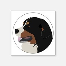 "bernese_vector Square Sticker 3"" x 3"""