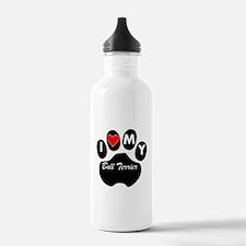 I Heart My Bull Terrier Water Bottle