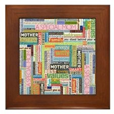 Mothers Day Square Framed Tile