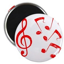 G-clef with NOTES IV RED Magnet