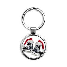 skates_christmas Round Keychain