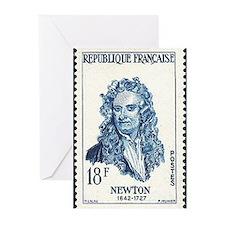 Sir Isaac Newton Christmas Greeting Cards (Pkg 10)