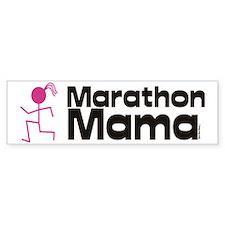 marathon momma Bumper Sticker