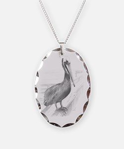 Pelican Pencil Drawing by Broo Necklace