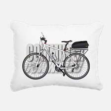 Commuter Bike Rectangular Canvas Pillow