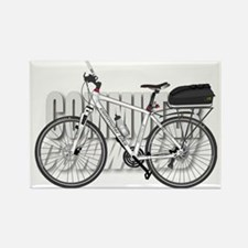 Commuter Bike Rectangle Magnet