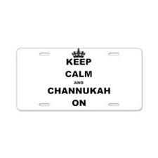 KEEP CALM AND CHANNUKAH ON Aluminum License Plate
