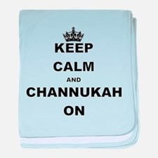 KEEP CALM AND CHANNUKAH ON baby blanket
