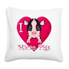 Micropig_N_multi Square Canvas Pillow