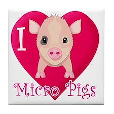 Micropig_N_pig Tile Coaster