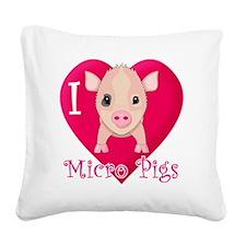 Micropig_N_pig Square Canvas Pillow