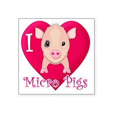 "Micropig_N_pig Square Sticker 3"" x 3"""