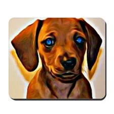 Painted Doxie Mousepad