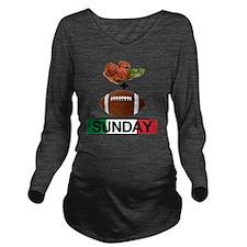 football sunday Long Sleeve Maternity T-Shirt