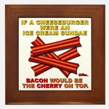 vcb-bacon-cherry-on-top-2011a Framed Tile