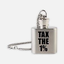 TaxThe1PercentBtn Flask Necklace