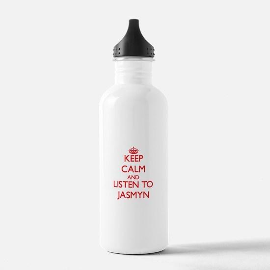 Keep Calm and listen to Jasmyn Water Bottle