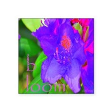 "bloom_worded Square Sticker 3"" x 3"""