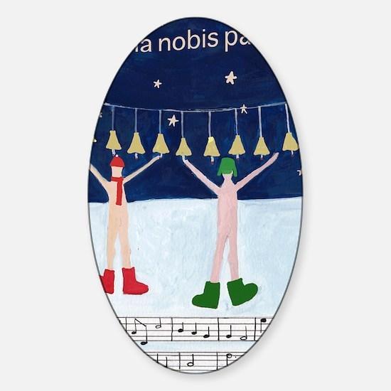 dona-nobis-pacem.gif Sticker (Oval)