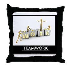 teamwork_mannequins_03 Throw Pillow