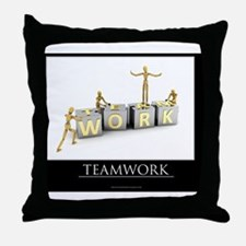 teamwork_mannequins_03 Throw Pillow