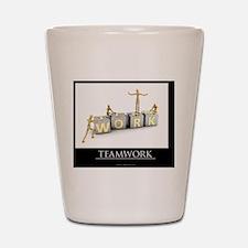 teamwork_mannequins_03 Shot Glass
