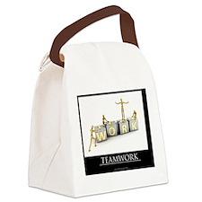 teamwork_mannequins_03 Canvas Lunch Bag