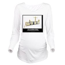 teamwork_mannequins_ Long Sleeve Maternity T-Shirt