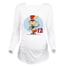 12 Drummers Long Sleeve Maternity T-Shirt