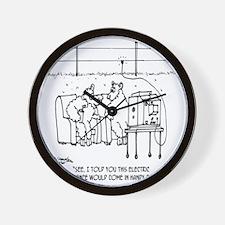 3217_sheep_cartoon Wall Clock